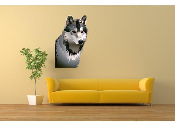 stickers Tête de loup
