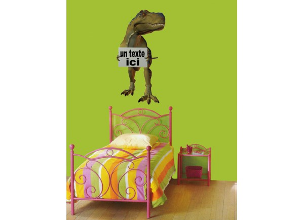 stickers Dinosaure et pancarte