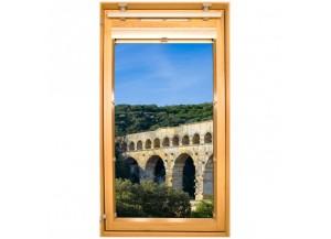 Stickers trompe l'oeil velux Pont du Gard