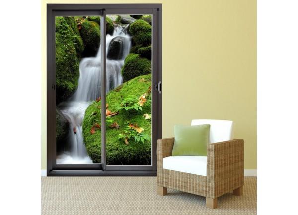 d co maison trompe l 39 oeil baie vitr e chute d 39 eau. Black Bedroom Furniture Sets. Home Design Ideas