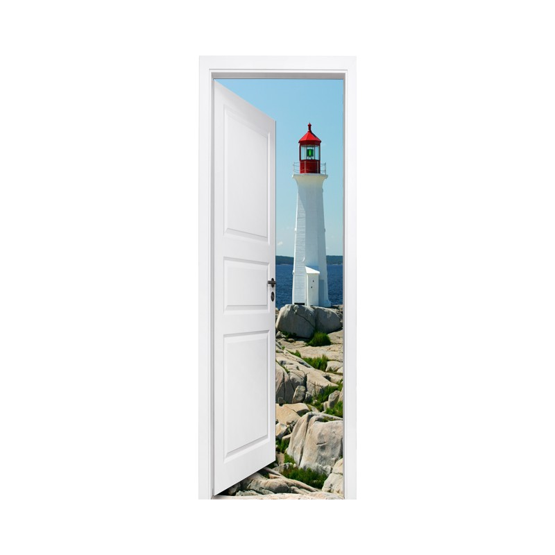 stickers trompe l 39 oeil porte le phare tatoutex stickers. Black Bedroom Furniture Sets. Home Design Ideas