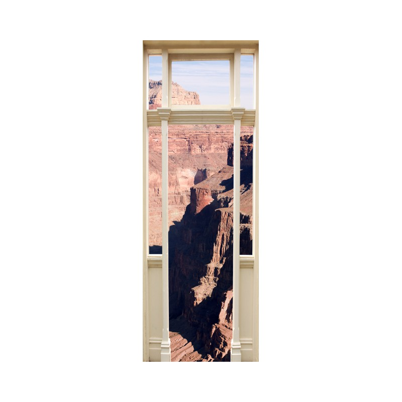 stickers trompe l 39 oeil porte le grand canyon tatoutex stickers. Black Bedroom Furniture Sets. Home Design Ideas