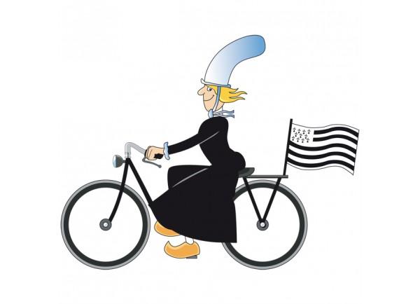 stickers Bigoudène sur son vélo