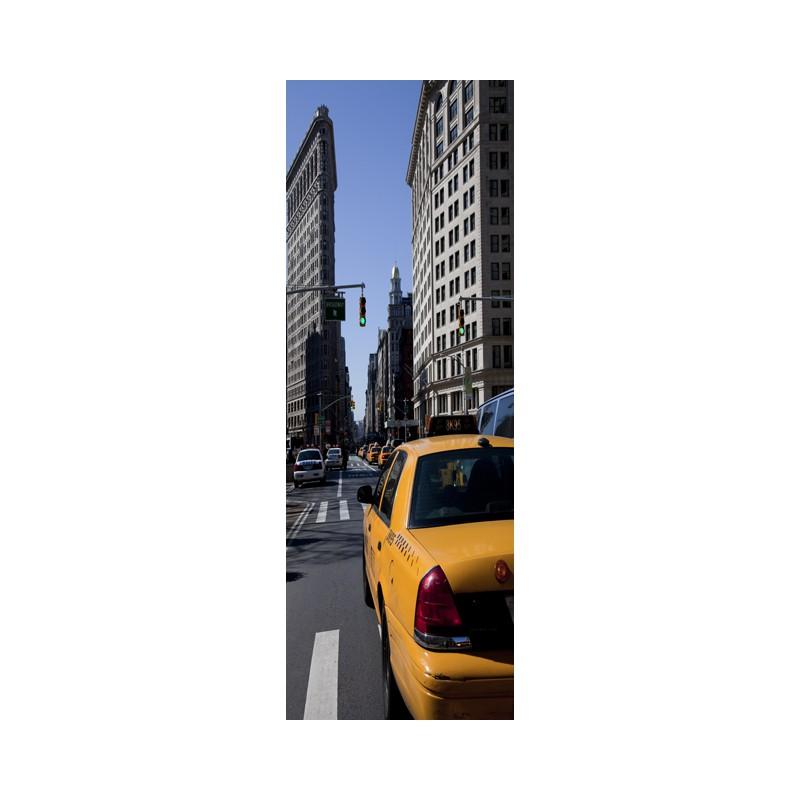 Stickers pour porte taxi de new york tatoutex stickers - Stickers porte new york ...