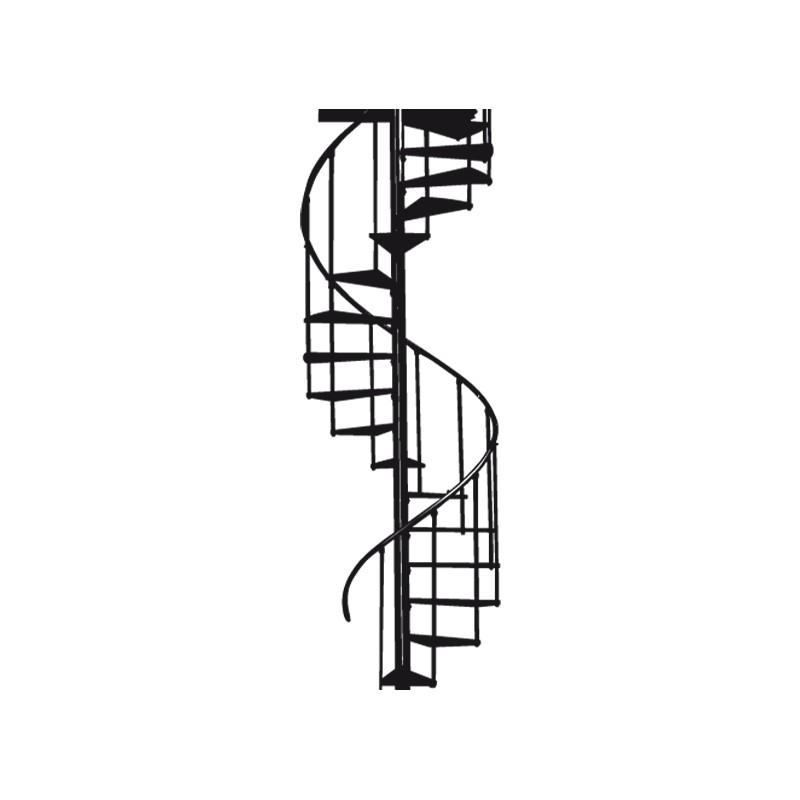 Stickers escalier en colima on tatoutex stickers - Dimension escalier colimacon ...