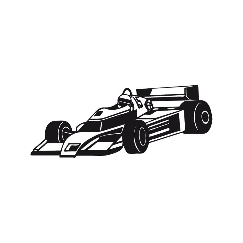 stickers muraux voiture de course autocollant formule 1. Black Bedroom Furniture Sets. Home Design Ideas