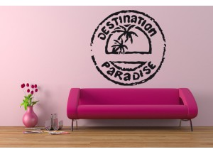 Stickers Destination paradise