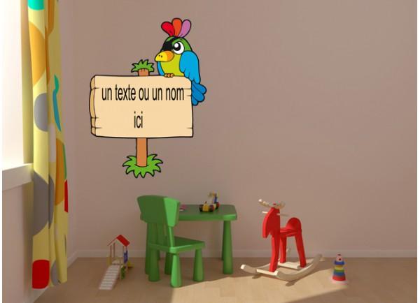 stickers Perroquet et pancarte