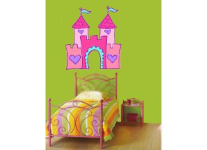 Stickers Chateau rose