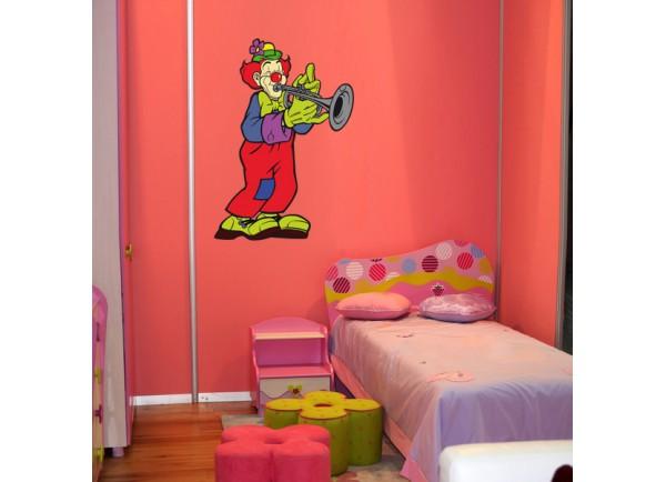 stickers Clown trompétiste