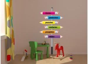 Stickers Crayons de couleur