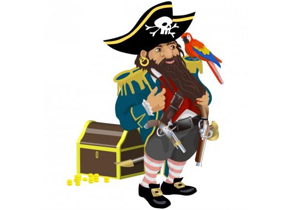 stickers Vieux pirate