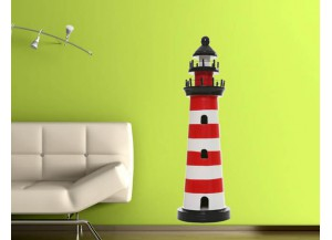 Stickers Phare rouge et blanc