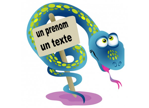 Stickers Serpent et pancarte