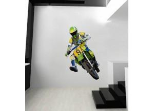 Stickers Moto tout terrain verte