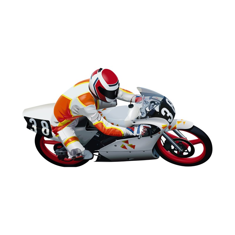 stickers moto de course d coration murale moto moto de course. Black Bedroom Furniture Sets. Home Design Ideas