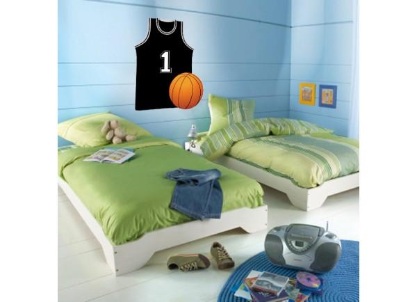 stickers Maillot et ballon de basket