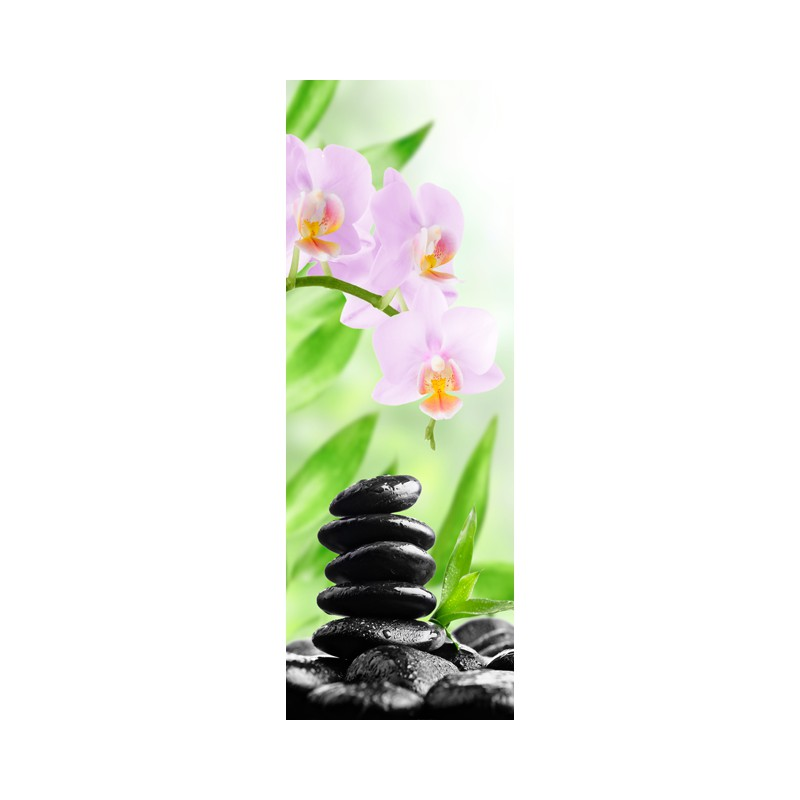 Stickers pour porte ambiance zen for Decoration porte interieure poster sticker