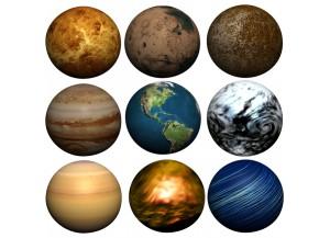 Stickers Planche de planètes
