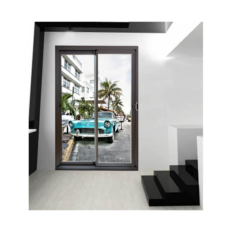 trompe l 39 oeil de baie vitr e avec miami beach tatoutex. Black Bedroom Furniture Sets. Home Design Ideas