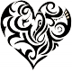 stickers Coeur tribal