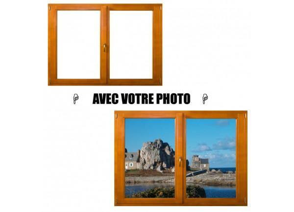Stickers fenetre avec votre photo petit format