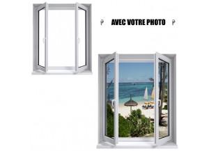 Stickers fenêtre avec votre photo L 118cm x L 140cm