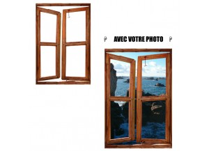 Stickers fenêtre avec votre photo L 90cm x H 135cm