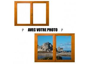 Stickers fenêtre avec votre photo L 126cm x H 90cm