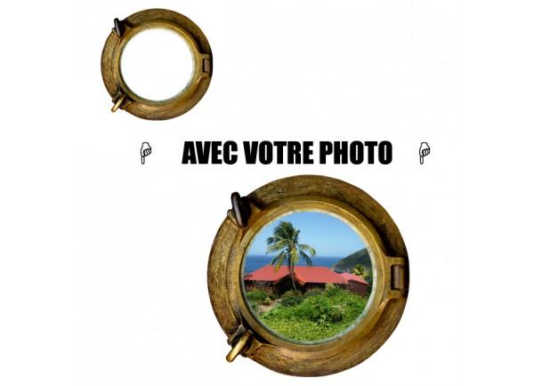 Stickers hublot avec votre photo petit format