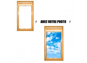 Stickers velux avec votre photo 90cm x 162cm