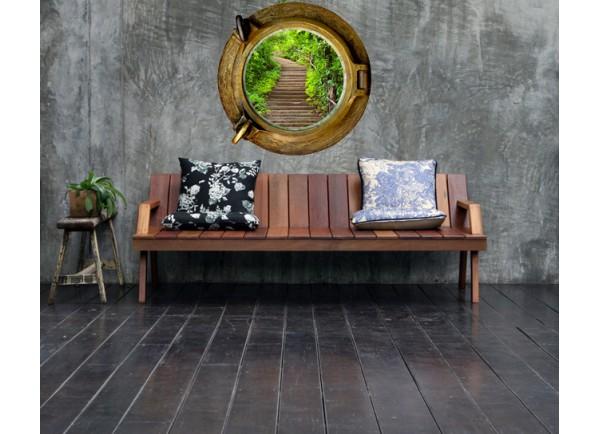 stickers trompe l 39 oeil hublot escalier dans la nature tatoutex stickers. Black Bedroom Furniture Sets. Home Design Ideas
