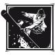 Stickers surfeur des neiges