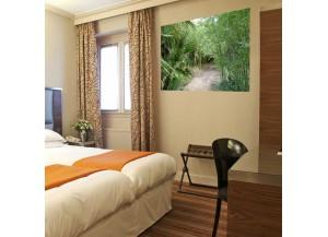 Stickers paysage palmiers et bambous