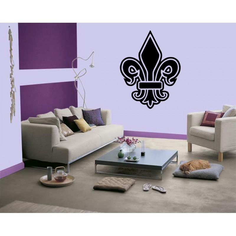 stickers fleur de lys autocollant fleur de lys tatoutex stickers. Black Bedroom Furniture Sets. Home Design Ideas