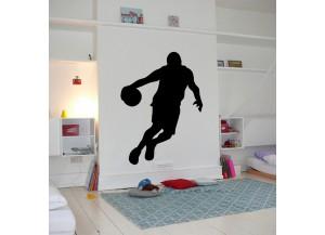 Stickers Basketteur conduite de balle