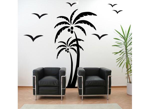 stickers Palmier et oiseaux