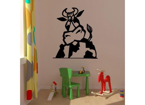 stickers Portrait de vache