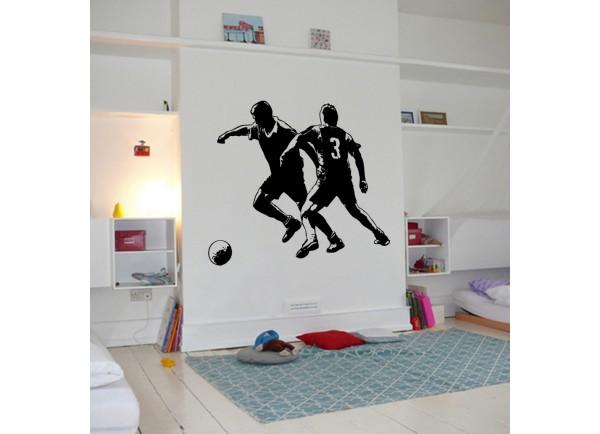 stickers 2 joueurs de foot