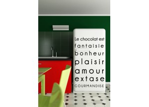 Stickers citation sur Le chocolat