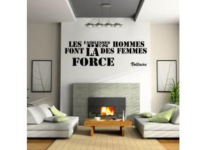 Stickers citation Les faiblesses des hommes