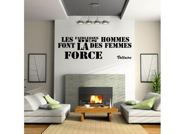 Stickers citation Les faibesses des hommes