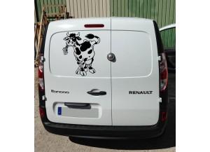 Stickers Vache et fleurs