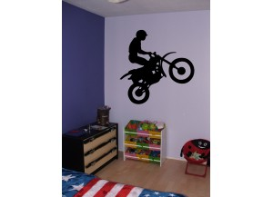 Stickers Silhouette de moto cross