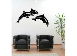 Stickers Trois dauphins