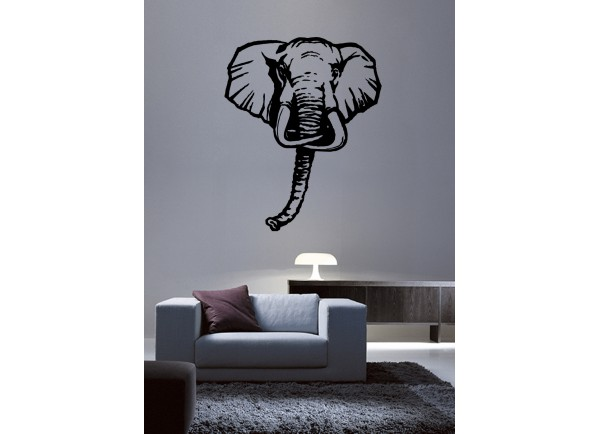 stickers Tête d'éléphant