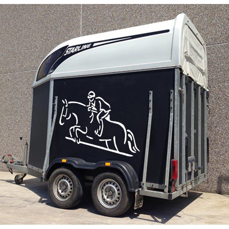 Stickers cheval saut d 39 obstacle tatoutex stickers - Frison saut d obstacle ...