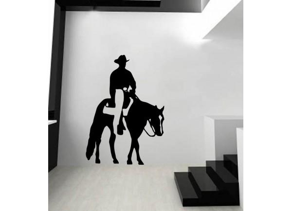 stickers équitation western