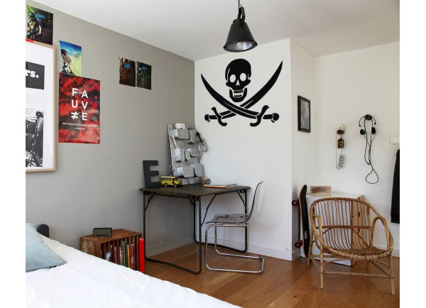 stickers Skull pirate
