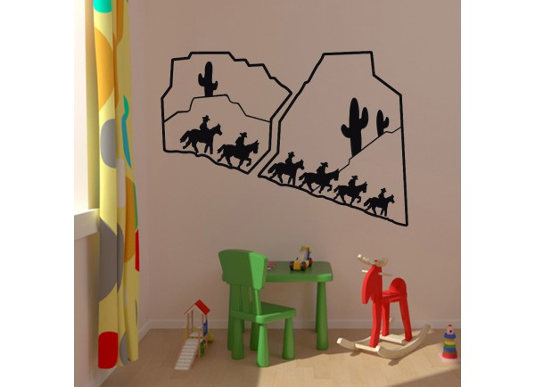 Stickers paysage western
